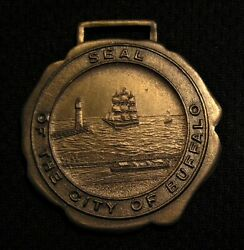 Vintage Seal Of The City Of Buffalo Ny Watch Fob Medal- Nice