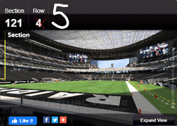 Sec 121 Row 5 - Las Vegas Raiders Vs Chicago Bears 10/10 2 Tickets Sold Out