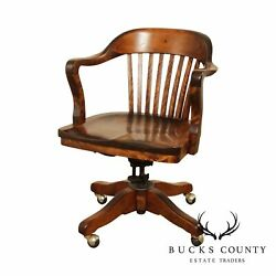 Sikes Antique Mahogany Bank Of England Desk Chair