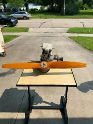 Vintage Ultralight Engine Chrysler With Rotec Engineering Wooden Propeller