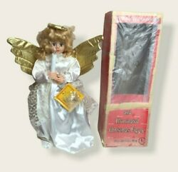 """Vintage 24"""" Telco Motion-ettes Of Christmas Angel Working Mechanical"""