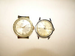 Two Westclox Alum Chrpl Vintage Made In Usa Watches Run For Restoration Bent Lug