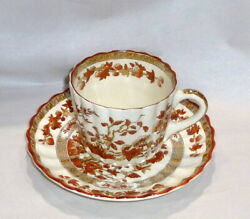 Antique Copeland Spode England India Tree Porcelain Tea Cup And Saucer Old Mark