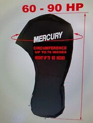 Mercury 60 - 90 Hp Black Full Outboard Engine Cover 76 Inch Top Circumference