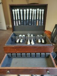 Towle Old Master Sterling Silver 48 Piece Set With Case