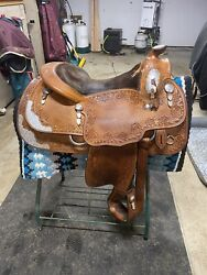 Blue Ribbon Show Saddle 15.5 Inch Seat Padded To 15.