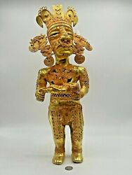 Original Colombian Gold Copper Tairona Tumbaga - Woman With Child