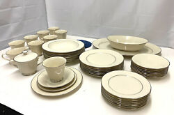 Lenox Maywood China Service For 8 Minus Dinner Plates + Extras Minus Boxes