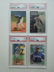 4 Ken Griffey Jr Psa 9 Cards 1993 Stadium Club 1994 And 1997 Leaf And 1998 Ultra