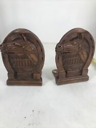 Book Holders Carved Horses Ornawood Made In Usa