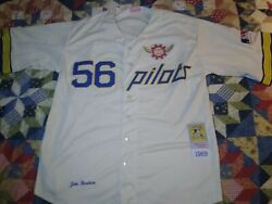 Seattle Pilots 1969 Jim Bouton Cooperstown Collection Jersey Size Xl