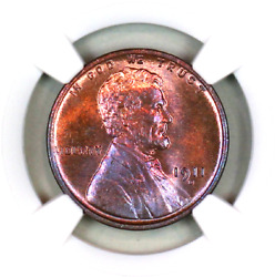 1911-d Ms65 Rb Ngc Lincoln Wheat Penny Superb Registry Quality Collection