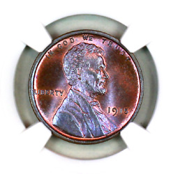 1915-p Ms65 Rb Ngc Lincoln Wheat Penny Superb Registry Quality Collection