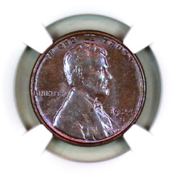 1924-s Ms63 Bn Ngc Lincoln Wheat Penny Superb Registry Quality Collection