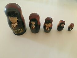 Harry Potter Wooden Russian Nesting Dolls Hand Painted Set Of 5 Dolls