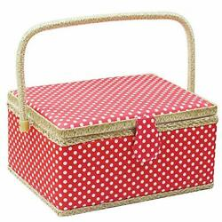 Large Sewing Basket With Accessorieswooden Sewing Organizer Box For Sewing Su...