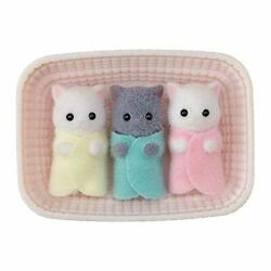 Calico Critters Persian Cat Triplets Dolls Dollhouse Figures Collectible Toys...