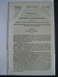 Government Report 1834 Tioga Bradford County Pa Recharter Of Bank Of Us