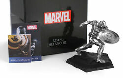 Marvel Royal Selangor Captain America Tin Model Statue Limited Hot Toy In Stock