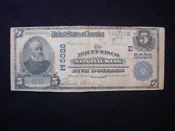 Mount Kisco New York Series 1902 5.00 National Currency Note Low Grade
