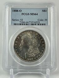 1888 O Morgan Silver Dollar Pcgs Ms64 Awesome Toning  A True Beauty