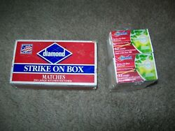 Vintage Stick Diamond Matches Opened And 10 Pk 32 Count Diamond Matches Sealed
