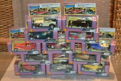 Rare 1980's Complete 12 Set Antique Classic Pull Back Action Jalopy Cars 138