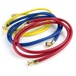Yellow Jacket Plus-ii Charging Hose Set 72 Yellow Blue And Red Part 21986