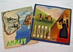 Vintage Italian Travel Brochures Aosta Amalfi Circa 1937 And 1938 Many Pictures