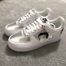 Nike Olivia Kim Air Force 1 Betty Boop Friends And Family Ct2276-100 Womenandrsquos 6.5