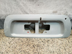 2002 Toyota Sequoia Silver Gray Grey Tailgate License Plate Frame Center Trim
