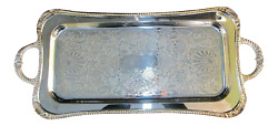 Reed And Barton Shell And Gadroon Cocktail Tray 25-inch Damaged Packaging
