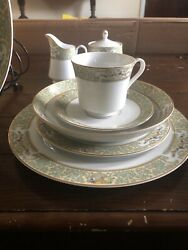 Vintage Mikasa Summer Bouquet Fine China Dinner Service 8 And Extra Dishes Formal