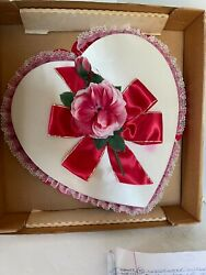 Vintage See's Candy Valentine Heart Box With Flowers In Original Box