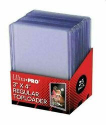 3x4 Inch Regular Toploaders - 25 Pack Like Ultra Pro - Fast Shipping