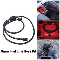 Universal 8mm Motorcycle Fuel Line Hose Rubber Kit Fit For Boat Engine Connector