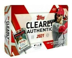 2021 Topps Clearly Authentic Baseball Hobby Box Factory Seal Free Priority Ship