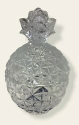 Mikasa Crystal Pineapple Trinket Jewelry Ring Dish With Lid 2 Pieces