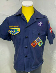 Official Boy Scouts Bsa Cub Scout Blue Ss Uniform Shirt Youth Size Small Sm S
