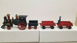 1880and039s Five Piece Cast Iron Floor Train W/ Steam Locomotive By Francis Carpenter