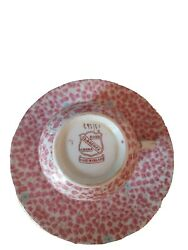 Clarence Bone China Made In England Pink Chinz Numbered