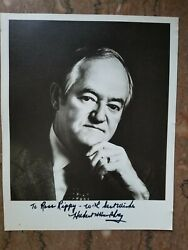 Hubert H. Humphrey - Autographed Inscribed Photograph And Letter- Original