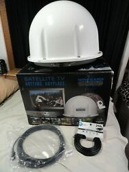 Winegard Carryout Satellite Tv Gm-1518 W/ New 12 Volt Power Cord, New Coax Cable