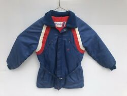 Vintage 60's 70's Polaris Red White And Blue Snowmobile Jacket Coat Adult Size L