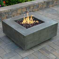 Prism Hardscapes Tavola Ii 36-inch Natural Gas Square Fire Pit Table - Pewter