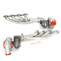 Fit Ls1 Ls6 Lsx T4 A/r0.8/0.81 V Band Turbo+exhaust Manifold+elbows Adapter