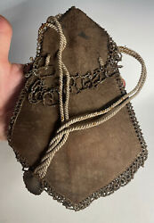 Antique Native American Beaded Leather Plains Tobacco Pouch 19th C.