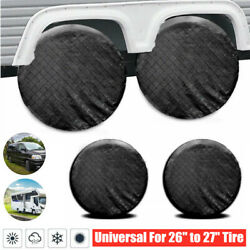 4pcs Rv Trailer Camper Truck Wheel Tire Covers Universal Fit For 26-27and039and039 Tires