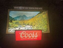 Vintage Coors Beer Rolling River Motion Lighted Sign 1960's Neon Tavern Bar Rare