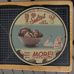 Vintage 1934 Sealtest Ice Cream And Dairy Product Company Porcelain Gas-oil Sign